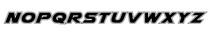 Airstrike Academy Regular Font UPPERCASE