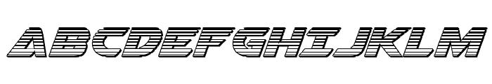 Airstrike Chrome Regular Font UPPERCASE