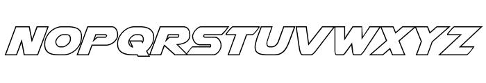 Airstrike Outline Regular Font UPPERCASE