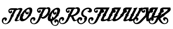 AishaScript Font UPPERCASE