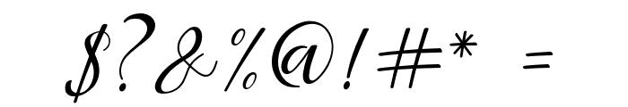 Aisyah Regular Font OTHER CHARS