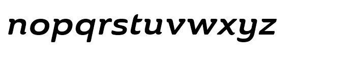Ainslie Extended Bold Italic Font LOWERCASE