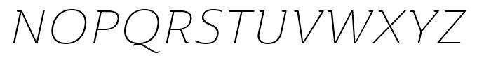 Ainslie Extended Light Italic Font UPPERCASE
