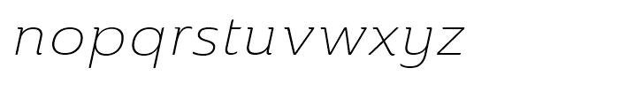 Ainslie Extended Light Italic Font LOWERCASE