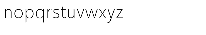 Ainslie Sans Condensed Light Font LOWERCASE