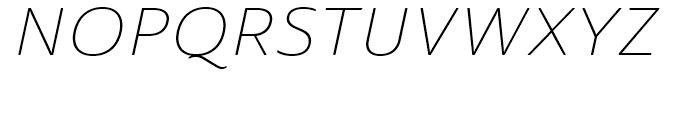 Ainslie Sans Extended Light Italic Font UPPERCASE