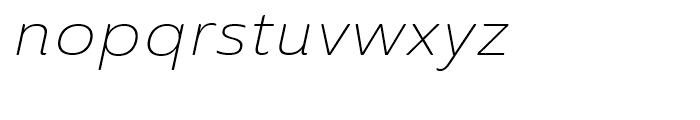 Ainslie Sans Extended Light Italic Font LOWERCASE
