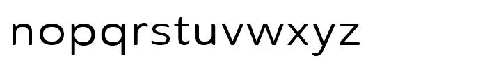 Ainslie Sans Extended Regular Font LOWERCASE