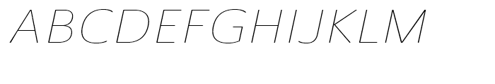Ainslie Sans Extended Thin Italic Font UPPERCASE