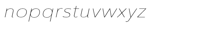 Ainslie Sans Extended Thin Italic Font LOWERCASE