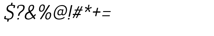 Ainslie Slab Condensed Regular Italic Font OTHER CHARS