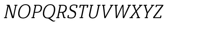 Ainslie Slab Condensed Regular Italic Font UPPERCASE