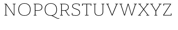 Ainslie Slab Extended Light Font UPPERCASE