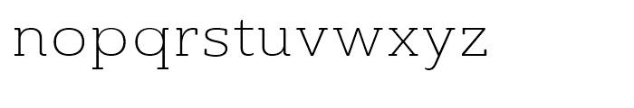 Ainslie Slab Extended Light Font LOWERCASE