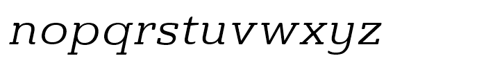 Ainslie Slab Extended Regular Italic Font LOWERCASE