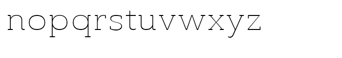 Ainslie Slab Extended Thin Font LOWERCASE