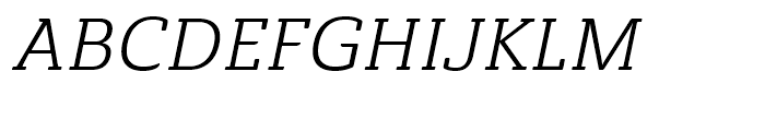Ainslie Slab Regular Italic Font UPPERCASE