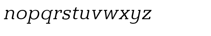 Ainslie Slab Regular Italic Font LOWERCASE