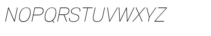 Air Thin Oblique Font UPPERCASE