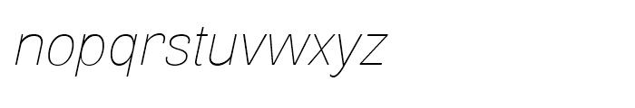 Air Thin Oblique Font LOWERCASE