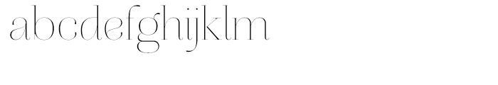 Aire Light Font LOWERCASE