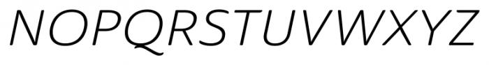 Ainslie Sans Ext Book Italic Font UPPERCASE