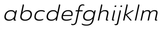 Ainslie Sans Ext Book Italic Font LOWERCASE