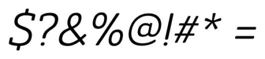 Ainslie Slab Italic Font OTHER CHARS