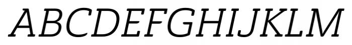 Ainslie Slab Italic Font UPPERCASE