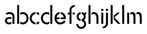 Air Factory Stencil Font LOWERCASE