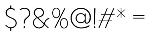 Air Factory Thin Font OTHER CHARS