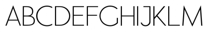Air Factory Thin Font UPPERCASE