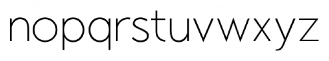 Air Factory Thin Font LOWERCASE