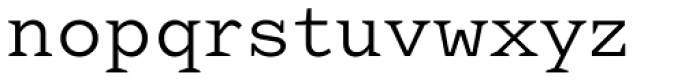 Aidos Normal Font LOWERCASE