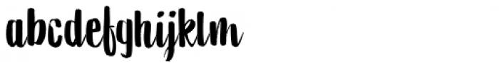 Aiguille Regular Font LOWERCASE