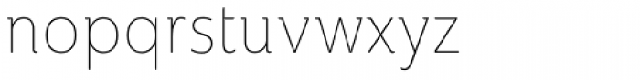 Ainslie Cond Thin Font LOWERCASE