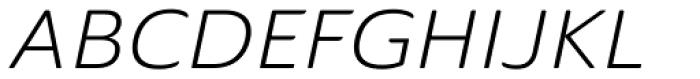 Ainslie Sans Extd Book Italic Font UPPERCASE