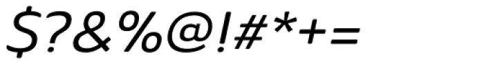 Ainslie Sans Extd Medium Italic Font OTHER CHARS