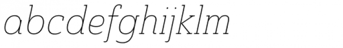 Ainslie Slab Cond Thin Italic Font LOWERCASE