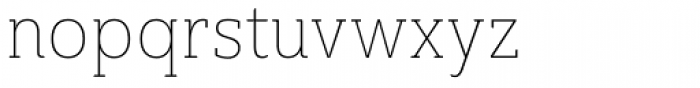 Ainslie Slab Cond Thin Font LOWERCASE