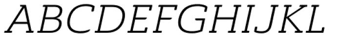 Ainslie Slab Extd Book Italic Font UPPERCASE