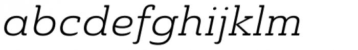 Ainslie Slab Extd Book Italic Font LOWERCASE