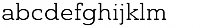 Ainslie Slab Extd Book Font LOWERCASE