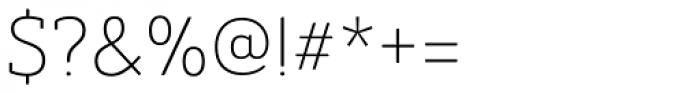 Ainslie Slab Light Font OTHER CHARS