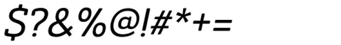 Ainslie Slab Medium Italic Font OTHER CHARS