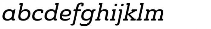 Ainslie Slab Medium Italic Font LOWERCASE