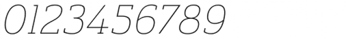 Ainslie Slab Thin Italic Font OTHER CHARS