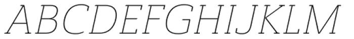Ainslie Slab Thin Italic Font UPPERCASE