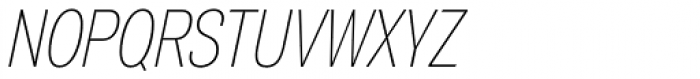 Air Compressed Thin Oblique Font UPPERCASE