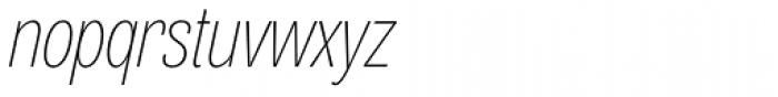 Air Compressed Thin Oblique Font LOWERCASE